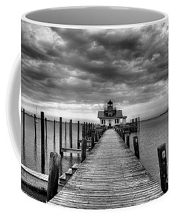Roanoke Marshes Light 2 Bw Coffee Mug