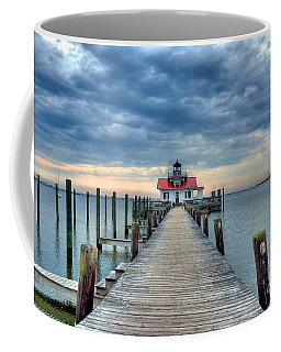 Coffee Mug featuring the photograph Roanoke Marshes Light 2 by Mel Steinhauer