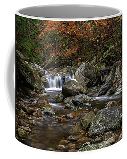 Roaring Brook - Sunderland Vermont Autumn Scene  Coffee Mug