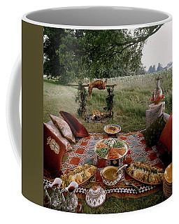 Robert Carrier's Moroccan Picnic In A Field Coffee Mug
