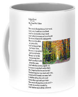 Robert Frost - The Road Not Taken Coffee Mug