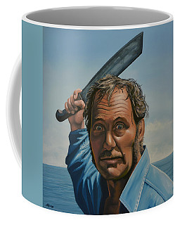 Robert Shaw In Jaws Coffee Mug by Paul Meijering