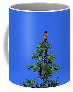 Robin Christmas Tree Topper Coffee Mug