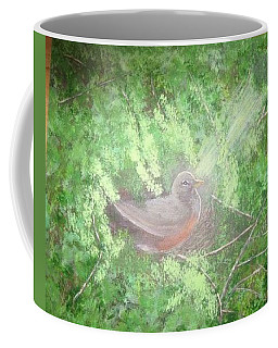Robin On Her Nest Coffee Mug