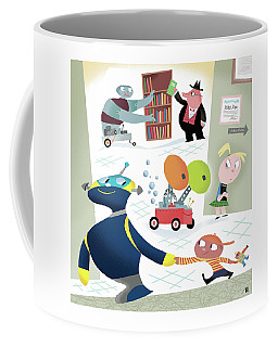 Robots And Children At School Coffee Mug