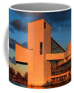 Rock And Roll Hall Of Fame Coffee Mug by Jerry Fornarotto