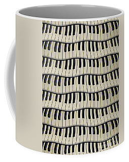 Rock And Roll Piano Keys Coffee Mug