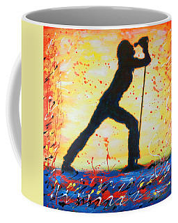Rock Band Singer Abstract Art Coffee Mug