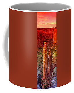 Rock Formations In A Desert, Spider Coffee Mug