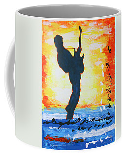 Rock Guitar Abstract Painting Coffee Mug