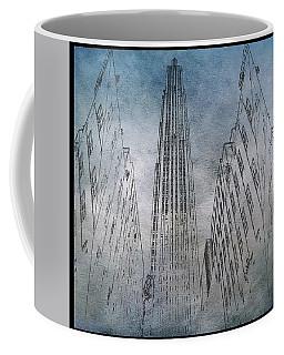 Ge Building Facade Sketch Coffee Mug