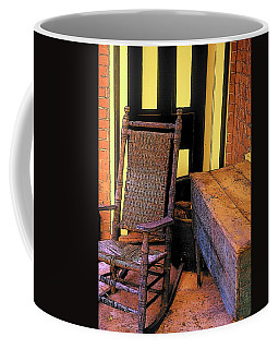 Rocking Chair And Woodbox Coffee Mug