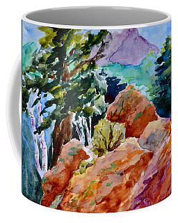 Rocks Near Red Feather Coffee Mug by Beverley Harper Tinsley