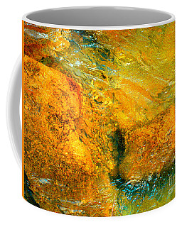 Rocks Under The Stream By Christopher Shellhammer Coffee Mug