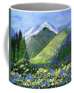 Rocky Mountain Spring Coffee Mug by Jamie Frier