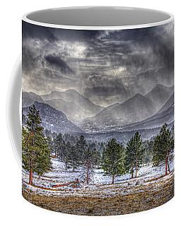 Rocky Mountain Snow Storm Estes Park Colorado Coffee Mug