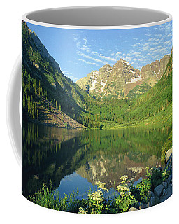 Rocky Mtn Lake Sunrise Coffee Mug