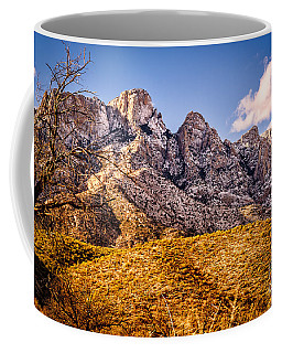 Coffee Mug featuring the photograph Rocky Peaks by Mark Myhaver