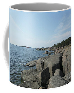 Rocky Seashore 2 In Hamina  Coffee Mug