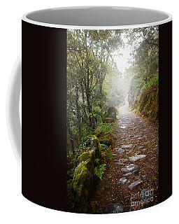 Rocky Trail In The Foggy Forest Coffee Mug