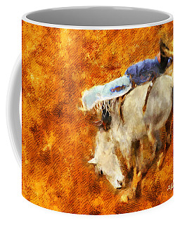 Coffee Mug featuring the painting Eight-second Ride by Greg Collins