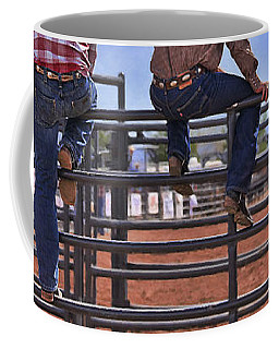 Rodeo Fence Sitters Coffee Mug by Priscilla Burgers