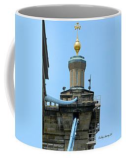 Coffee Mug featuring the photograph Roebling Bridge From Kentucky by Kathy Barney