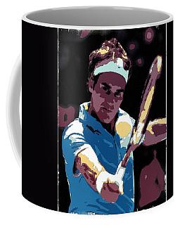 Roger Federer Portrait Art Coffee Mug
