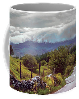 Rolling Storm Clouds Down Cumbrian Hills Coffee Mug