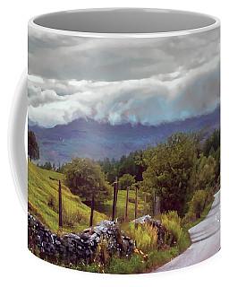 Rolling Storm Clouds Down Cumbrian Hills Coffee Mug