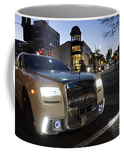 Rolls Royce Parked At The Bottom Of Rodeo Drive Coffee Mug by Nina Prommer