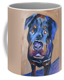 Coffee Mug featuring the painting Roman by Donna Tuten