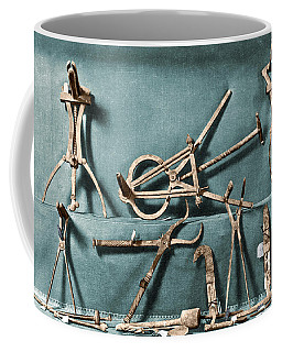 Coffee Mug featuring the photograph Roman Surgical Instruments, 1st Century by Science Source