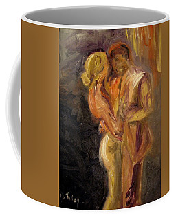 Coffee Mug featuring the painting Romance by Donna Tuten