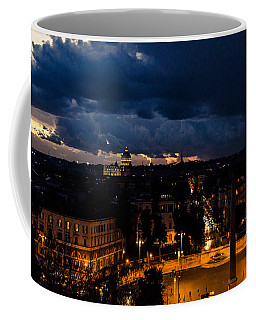 Rome Cityscape At Night  Coffee Mug