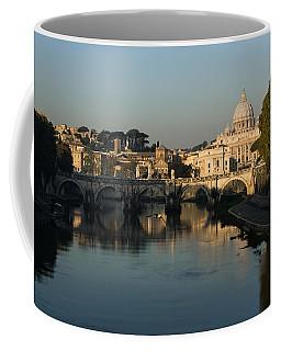 Rome - Iconic View Of Saint Peter's Basilica Reflecting In Tiber River Coffee Mug