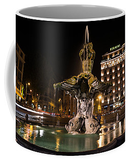 Rome's Fabulous Fountains - Bernini's Fontana Del Tritone Coffee Mug by Georgia Mizuleva