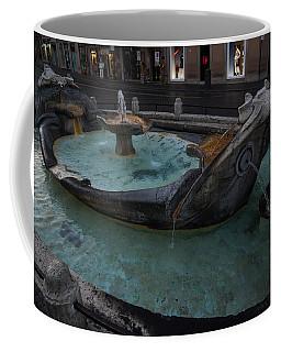 Rome's Fabulous Fountains - Fontana Della Barcaccia At The Spanish Steps  Coffee Mug