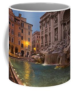Rome's Fabulous Fountains - Trevi Fountain At Dawn Coffee Mug