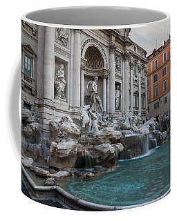 Rome's Fabulous Fountains - Trevi Fountain - No Tourists Coffee Mug by Georgia Mizuleva