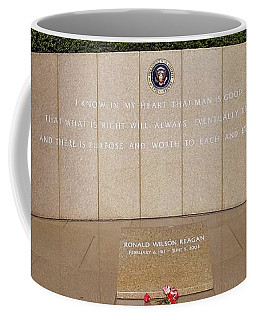 Coffee Mug featuring the photograph Ronald Reagan Memorial Site by Glenn McCarthy Art and Photography