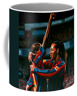 Ronaldinho And Eto'o Coffee Mug