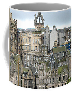 Coffee Mug featuring the photograph Roofs Of Edinburgh  by Suzanne Oesterling
