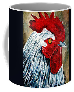 Coffee Mug featuring the painting Rooster Doodle by Julie Brugh Riffey