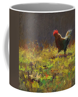 Rooster Strut Coffee Mug by Karen Whitworth