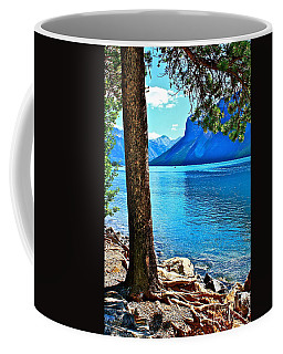 Rooted In Lake Minnewanka Coffee Mug by Linda Bianic