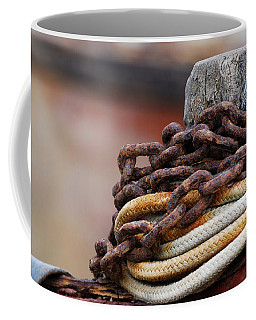 Rope And Chain Coffee Mug by Wendy Wilton