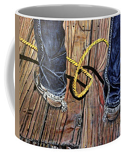 Roping Boots Coffee Mug by Marilyn  McNish