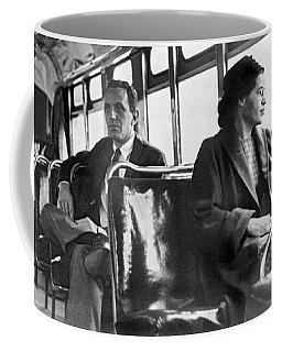 Rosa Parks On Bus Coffee Mug