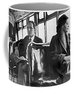 Rosa Parks On Bus Coffee Mug